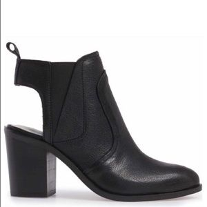 1.State Leban black leather bootie size 6.5